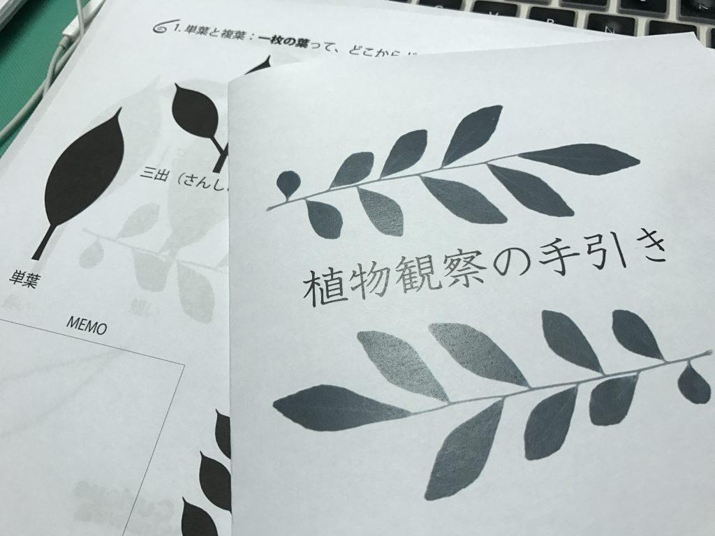 植物観察の手引き